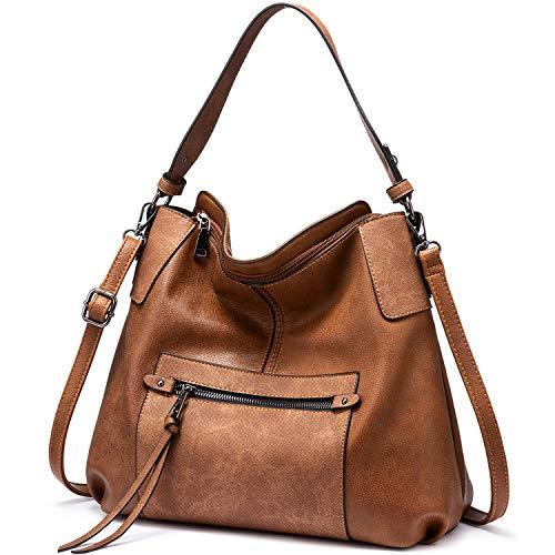 Realer Hobo Bag Damen Handtasche groß Crossbody Tasche Damen Schultertasche