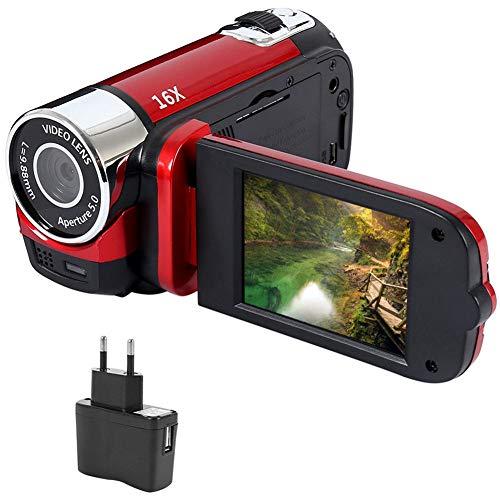 Videocámara Digital Full HD 1080P con visión Nocturna por Infrarrojos, cámara de Video portátil DV 2.7'LCD 16X Zoom DVR cámara Digital (Dos baterías Incluidas)