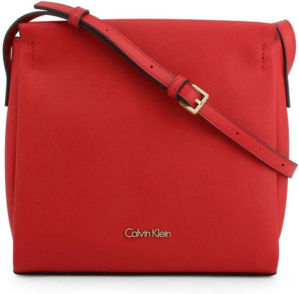 Calvin klein - dressed business crossbody clutch borsa a tracolla per donna in pelle sintetica K60K602142_Lipstick Red