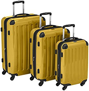 HAUPTSTADTKOFFER - Alex- Set of 3 Hard-side Luggages Trolley Suitces Expandable, (S, M & L), yellow (B007AJKGYO) | Amazon price tracker / tracking, Amazon price history charts, Amazon price watches, Amazon price drop alerts