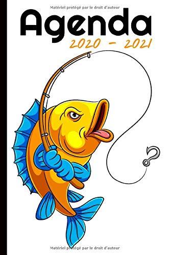 Agenda 2020 - 2021: Agenda semainier, Format A5 | Pour les étudiants, professionnels et particuliers | Calendrier, liste de contacts, ... | 140 pages ... à Septembre 2021 | Thème Pêche, Poisson |