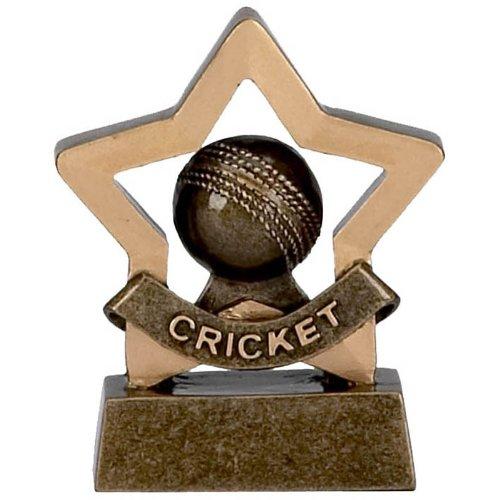 8,3cm Mini Star Cricket Trophy mit gratis Gravur bis zu 30Buchstaben A969