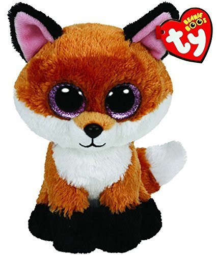 Ty Beanie Boos 6 Slick The Brown Fox Gift Collections Plush Doll Toys by