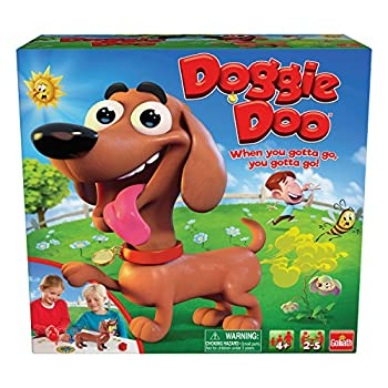 Goliath New & Improved Doggie Doo - Squeeze The Leash Poop The Food Game Brown