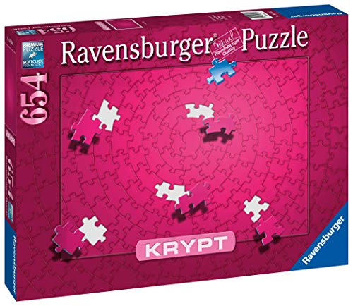 Ravensburger Krypt Puzzle, Schweres Puzzle für Erwachsene und Kinder ab 14 Jahren, Pink, 654 Teile