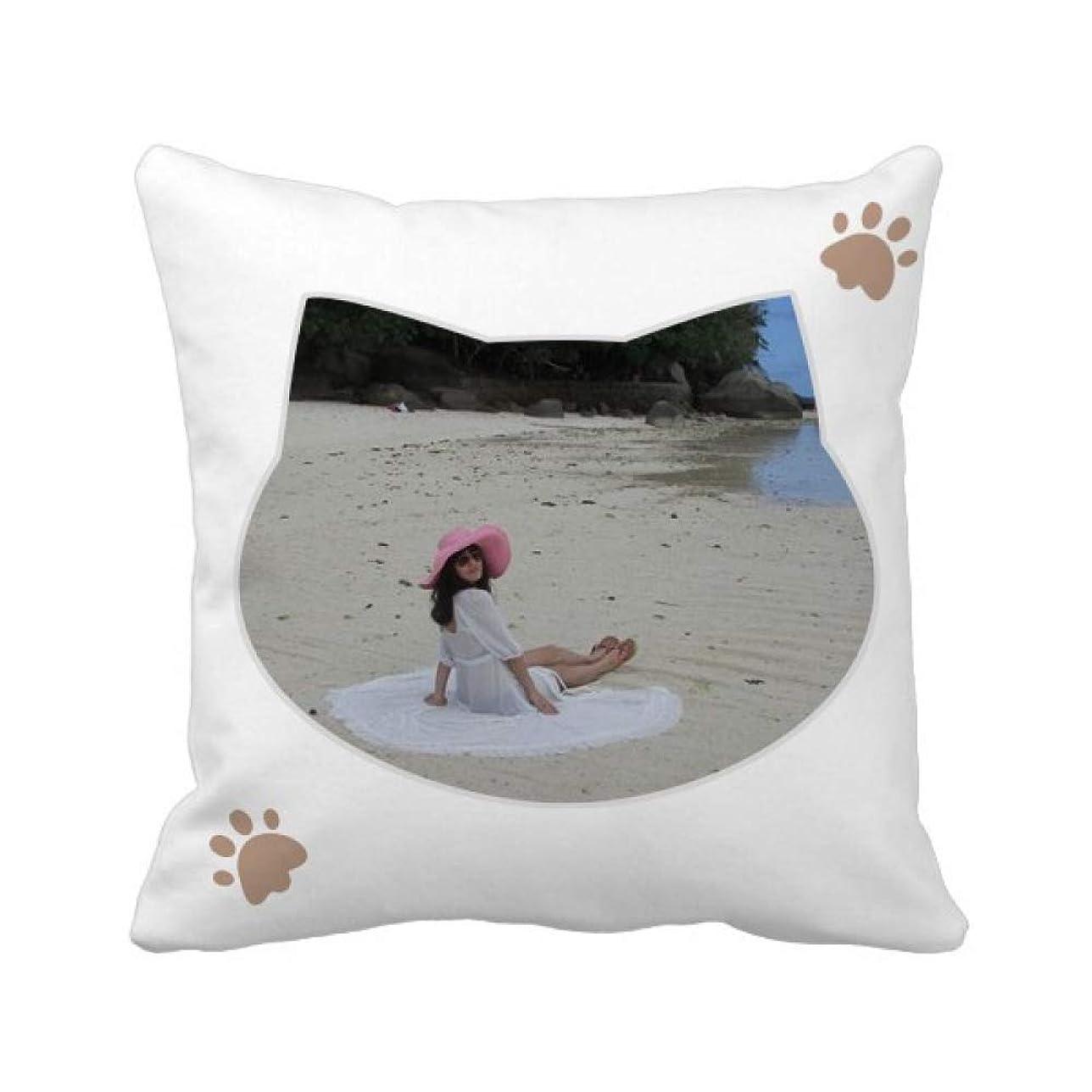 バインド社員前部エリー?八尾beautiflu少女ビーチ海礁 枕カバーを放り投げる猫広場 50cm x 50cm