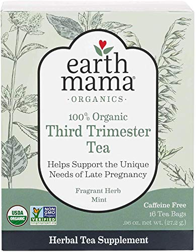 Earth Mama Organic Third Trimester Tea Bags for Pregnancy Comfort and Childbirth Preparation, 16-Count (3-Pack)