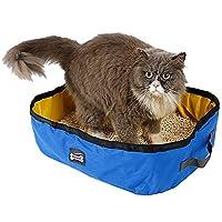 猫トイレ ポータブル 猫のトイレボックス折り畳み式 防水 旅行やアウトドア用 軽量 簡易トイレ ペット用品