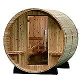 Almost Heaven Saunas Audra Fasssauna Saunafass für 4 Personen ca. 180x183 cm