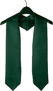 """GraduationSource Unisex Adult Plain Graduation Stole, 60"""" Long, 15 Colors"""