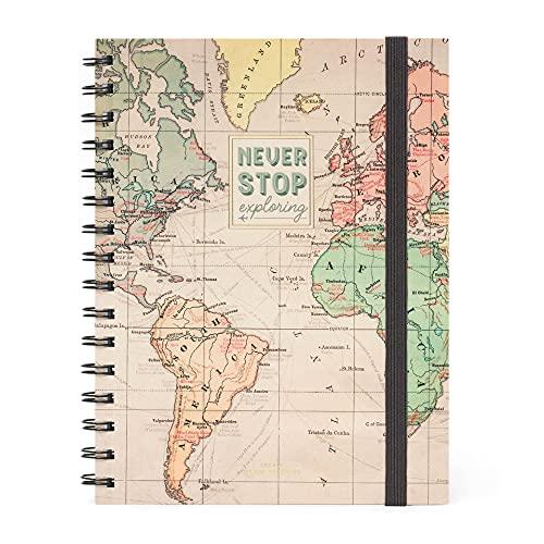 Legami A5NOTS0014 - Cuaderno con espiral a rayas, hoja A5, viaje
