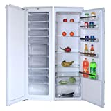Cookology Upright Integrated Tall Fridge & Full Height Built-in Freezer Pack