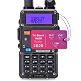 Mirkit x Baofeng Radio UV-5R MK3X 5W Power 2020 2100 mAh Li-ion Battery, Tri-Band Radio VHF, 1.25M, UHF, Mirkit Edition and Neck Strap Lanyard Mirkit Ham Radio Operator