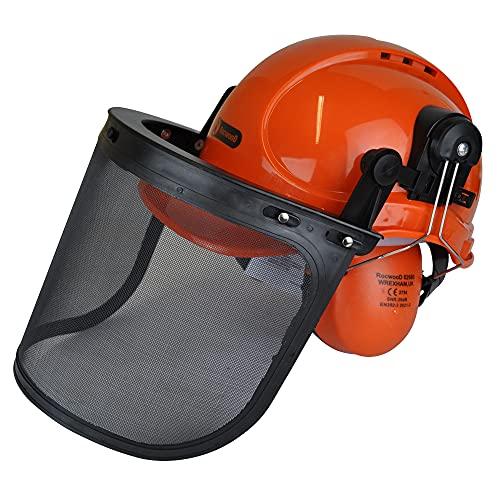 RocwooD–Casco de protección para motosierra (para Husqvarna)