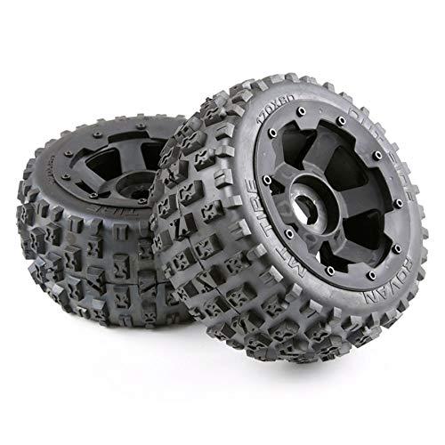 Kuinayouyi Reifen- und Rad Naben Set für 1/5 Hpi Baja 5B Rc Auto Teile - Hinten 170X80