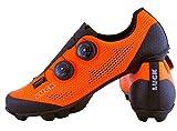 LUCK Excalibur Zapatillas Ciclismo MTB | Naranja Flúor | Suela de Carbono SHD | Doble Cierre Rotativo ATOP | Puntera Trasera de Refuerzo, Hombre Mujer