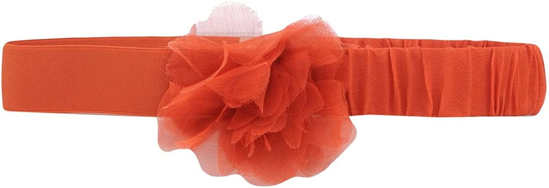 MAX&CO. Women's Acino Floral Silk Belt, orange, Large