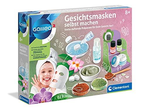 Clementoni 59248 Galileo Lab – Gesichtsmasken selbst machen, DIY Beauty Tuchmasken, duftende Stoffe zur Entspannung fürs Gesicht, Kosmetik Set zu Weihnachten für Kinder ab 8 Jahren