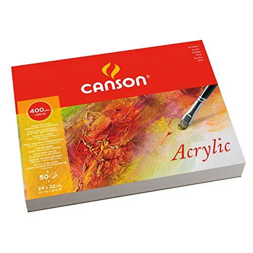 Canson Acrylic - Papel de dibujo (400gsm, 24 x 32 cm)