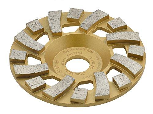 TRONGAARD PREMIUM Diamant Schleifteller/Schleiftopf 125mm / 22,23mm / 19mm Bi-Turbo Segmentierung