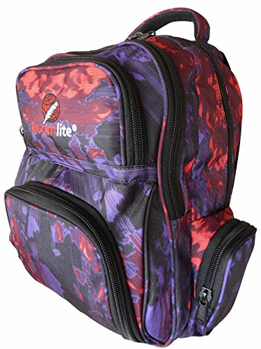 Skiing Snow-Boarding Backpack Bag - Medium Size Skaters Rucksacks with 6 Pockets, 30 Litre Day-Pack - Water Resistant 46cm x 32 x 20 - Roamlite RL838 (Funky Water Pu)