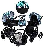 Cochecito Kunert Lavado Trio. 3en1 capazo + silla + silla de coche. Carro bebé trio. BBtwin.es (turquesa)