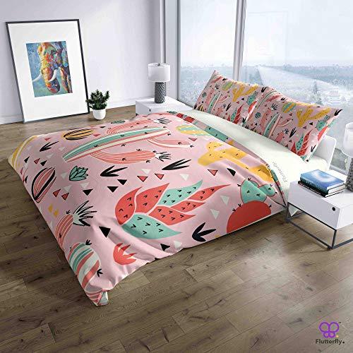 Flutterfly duvet cover king size superk duvet cover queen superk bedding set bed set queen housse de couette superking Pink Desert (1119-1207) design