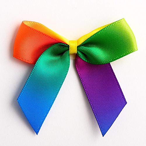 Italian Options Rainbow Gay Pride LGBT Lot de 12 nœuds en Satin 5 cm
