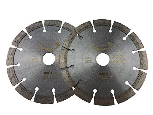 PRODIAMANT Diamant-Trennscheibe Beton Doppelpack 150 mm x 22,2 mm Diamanttrennscheibe Mauerschlitzer 2x PDX83.014 150mm