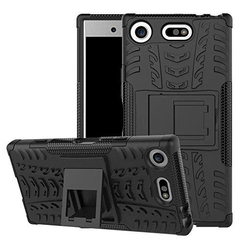Lapinette Cover Compatibile con Sony Xperia XZ1 Compact Antiurto - Custodia Xperia XZ1 Compact Protezione Antiurto - Protezione Sony Xperia XZ1 Compact Cover Antiurto Robusta Modello Spider Nero