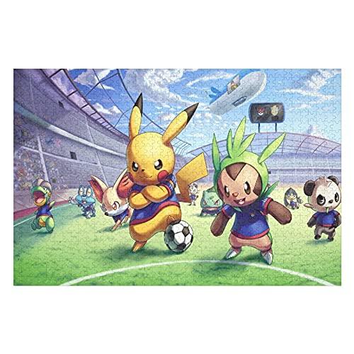 Houten puzzel 1000 PCS voor volwassenen en kinderen,Japanse anime schattige cartoon voetbalspel moeilijke uitdaging…