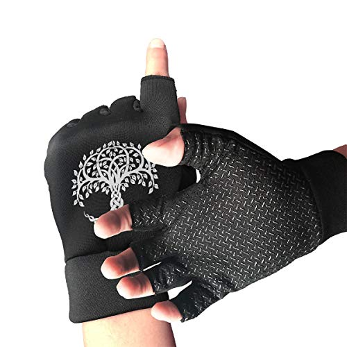 Men Women Celtic Tree of Life Copper Arthritis Gloves for Computer Typing and Daily Work