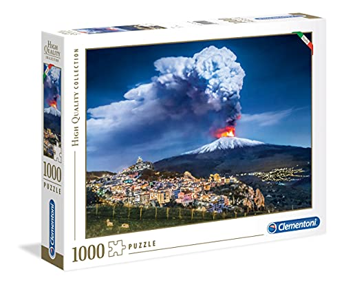 Clementoni- High Quality Collection-Etna Puzzle, 1000 Pezzi, Multicolore, 39453