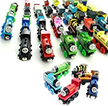 Tjackson Wooden Toy Blocks Thomas Friends Block Building Magnetic Child Super Model Edward Kids Kit Toys