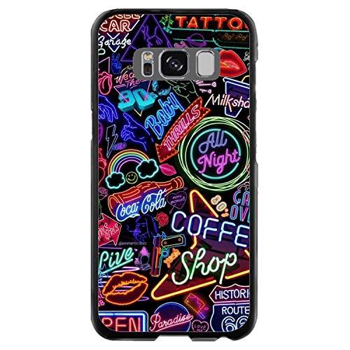 creosoleil Guscio per Galaxy S8+ *** (ATTENZIONE più Grande di S8) Originale TPU Fantasia Design Divertente 80 Neon Anno
