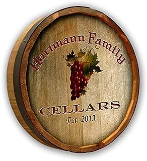 Personalized Hartmann Cellars Quarter Barrel Sign