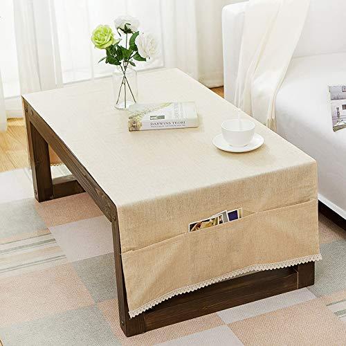YXDZ Ménage Rectangulaire Table Basse Couverture Tissu Salon Stockage Gland Nappe Meuble TV Bande Serviette