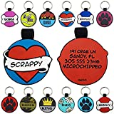 Pazzo Silicone Dog Tags | Pet Tags Personalized | Pet ID Tag |Engraved Silent Dog Tags for Dogs | Deep Engraving ( Heart)