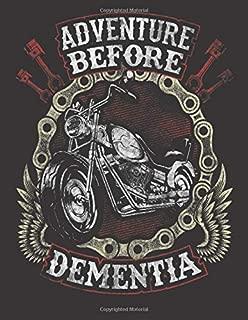 2020 Motorcycle Calendar and Planner For Bikers: Motorcycle Biker Funny Adventure Before Dementia Old   December 2019 - December 2020   8.5 X 11