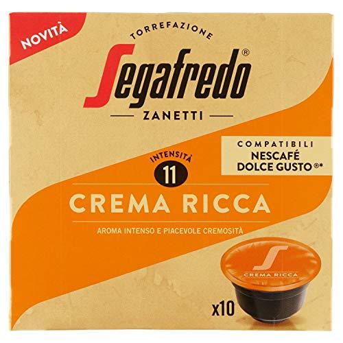 Segafredo Zanetti 10 Capsule Compatibili Dolce Gusto, Linea Le Classiche Crema Ricca, Aroma Intenso e Piacevole Cremosità - 1 Astuccio da 10 Capsule