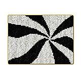 Almencla Kits Lindos de Alfombra con Gancho de pestillo con Lienzo con código de Colores, Ayuda a Que tu Bricolaje funcione más cómodo y fácil para la Costura - Tormenta