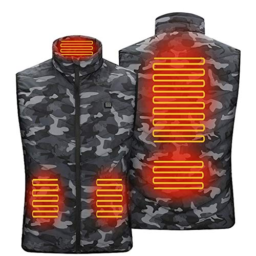 Chaleco caliente con lupa, chaleco eléctrico de carga USB, ropa de calefacción...