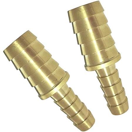 10pcs 4-10mm Brass Hose Fitting Connector Barb Splicer Mender Reducing Fitting Air Boat Fuel Hose Joiner Reducer