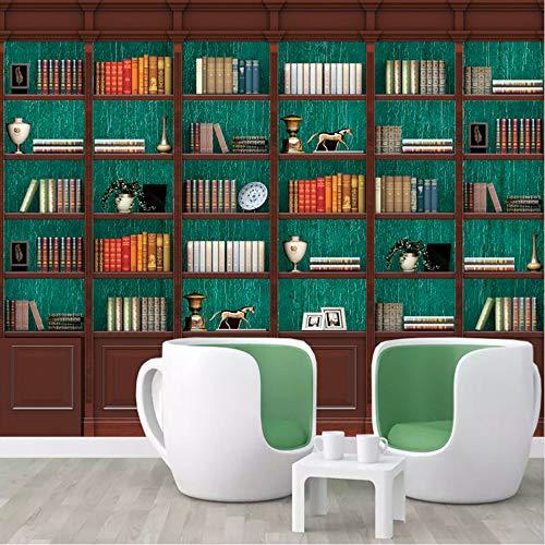 Pbbzl Gepersonaliseerd fotoalbum, 3D-behang, studio, woonkamer, bibliotheek, wanddecoratie, boekenrek, behang, muur 150 x 120 cm