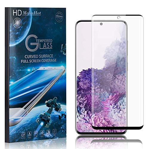 MelinHot Displayschutzfolie für Samsung Galaxy S20, 99% Transparenz Schutzfilm aus Gehärtetem Glas, 9H Härte, Keine Luftblasen, 3D Touch, 4 Stück