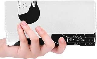 Unique Custom Le Kitsune Hot Stream Innove Et Mele Musique Et Il Women Trifold Wallet Long Purse Credit Card Holder Case Handbag