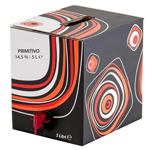 VINO PRIMITIVO IGP IGT bag in Box 5 L rosso CAMPANIA 14% Sfuso da Azienda Agricola