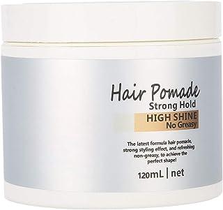 ヘアワックス 髪用ゼリーウォータージェルワックス、ウェットエフェクトを使用した極度の固着モデリングワックスポマード(120ml)
