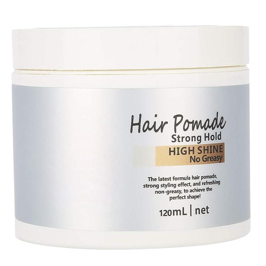 姓全く配るヘアワックス 髪用ゼリーウォータージェルワックス、ウェットエフェクトを使用した極度の固着モデリングワックスポマード(120ml)