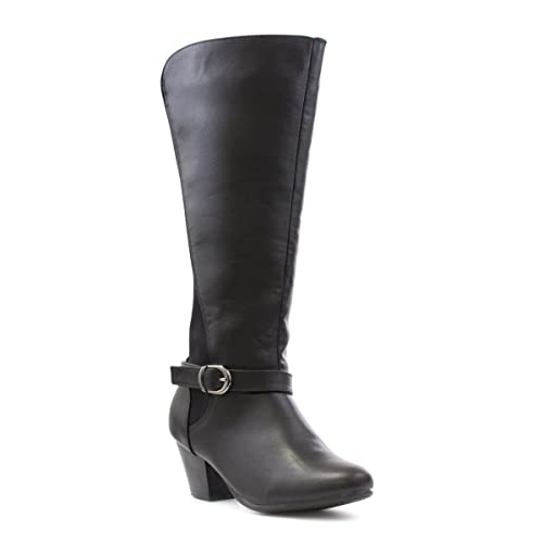 b1290ba445d Comfort Plus Womens Black Wide Fit Calf Boot
